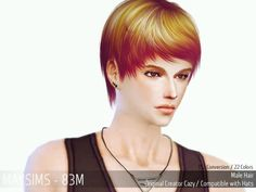 MAY Sims: May Hairstyle 83M for Sims 4