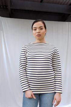 Guildo R Breton Striped Long Sleeve Cotton Top Breton Stripes, Saint James, Classic Style, Pullover, Denim, Long Sleeve, Model, Sleeves, Sweaters