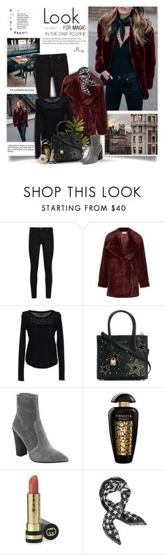 """""""Look For Magic In The Daily Routine"""" by thewondersoffashion ❤ liked on Polyvore featuring 7 For All Mankind, Hobbs, Armani Jeans, MICHAEL Michael Kors, Dolce Vita, The Merchant Of Venice, Gucci and Givenchy"""