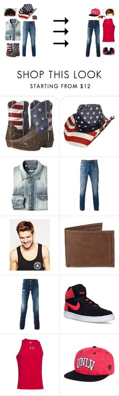 """""""Yep"""" by caiden-and-jay ❤ liked on Polyvore featuring Roper, Levi's, Toni&Guy, Dsquared2, NIKE, Under Armour, Top of the World and Smith"""