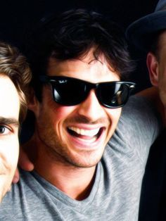 #TVD The Vampire Diaries  Paul Wesley(Stefan),Ian Somerhalder(Damon) & Matt Davis(Alaric)