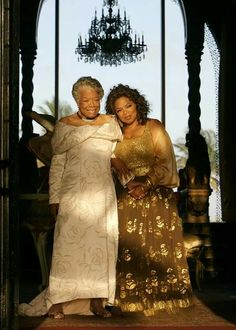 Oprah and Maya Angelou two of my favourite women, and both were and are inspirational! Still sad Maya Angelou has passed away! Maya Angelou, Black Girls Rock, Black Girl Magic, Women In History, Black History, My Black Is Beautiful, Beautiful People, Beautiful Women, Simply Beautiful
