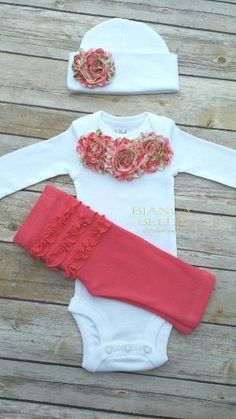 Baby Girl Take Home Outfit Newborn Outfit Going Home Outfit Coming Home Outfit Photo Prop Outfit Hospital Outfit by BiancaBellaBoutique on Etsy Going Home Outfit, Take Home Outfit, My Baby Girl, Baby Girl Newborn, Baby Girls, Newborn Outfits, Kids Outfits, Baby Girl Fashion, Kids Fashion