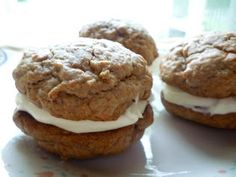 Whoopie pies. They seem to be quite trendy right now and rightfully so. Who wouldn't  want to eat not one but TWO cookies sandwiched around...