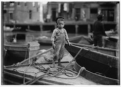 Child Labor by Lewis Wickes Hine....aw, look how little he is, poor little guy