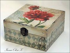 lindo estilo vintage New Crafts, Home Crafts, Diy And Crafts, Decoupage Box, Decoupage Vintage, Altered Cigar Boxes, Paisley Art, Vintage Box, Casket