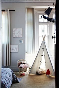 I am totally making on of these stylish tents for my kids when we have more room for one