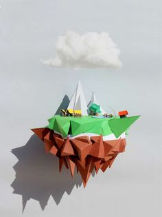 Paper Landscape Constructions - Julien Michels Paper Projects Exceed the Limitations of Reality (GALLERY)