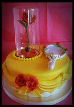 Beauty and the Beast cake (with rotating enchanted rose) I made this for my daughter's 22nd birthday, she's loved the film since she was a little girl :)