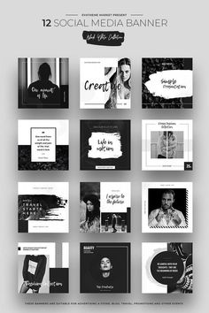 Search result Search result,Chapter Black & White Social Media Designs Social Media Related posts:Newborn Baby Girl Gift Set / Sunflower Yellow / Personalized Blanket Crib Sheet Lovey Changing Pad B. Social Media Branding, Social Media Banner, Social Media Template, Social Media Graphics, Layout Do Instagram, Instagram Grid, Instagram Design, Free Instagram, Web Design