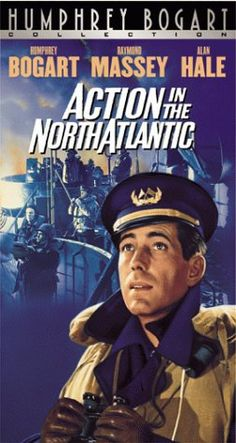 Action in the North Atlantic is a 1943 American war film directed by Lloyd Bacon, featuring Humphrey Bogart and Raymond Massey as sailors in the U. Merchant Marine in World War II 1940s Movies, Old Movies, Vintage Movies, Great Movies, Excellent Movies, Humphrey Bogart, Old Hollywood Movies, Classic Hollywood, Bogart Movies