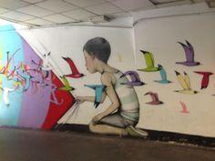 Street art per restyling metro a Roma - Curiosita' - Ansa.it