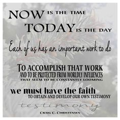 Craig C. Christensen quote from LDS General Conference (Priesthood Session), October 4, 2014