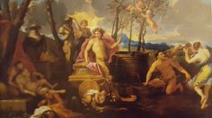 CIRCLE OF NICOLAS POUSSIN.  BACCHANAL. oil on canvas. 113 × 154 cm. Provenance: Mendoza Collection, since 1936; Pesaro Gallery, Milan,01/ 1936,lot 258, as Nicolas Poussin. Sotheby's. Milan. Olds Paintings. 01/ 06/ 2004. Lot 192. Estimate: 30.000/ 40.000 €. Nicolas Poussin, Gian Lorenzo Bernini, Old Paintings, Caravaggio, Chiaroscuro, Mendoza, Oil On Canvas, Milan, Symbols