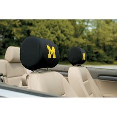 Michigan Wolverines Stretchy Headrest Covers