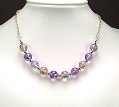 Ametrine & Sterling Silver Necklace  N334 by TheSilverBear on Etsy, $120.00