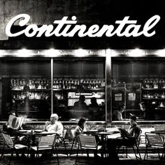 Continental by Michael Penn - Philadelphie USA Vintage Cafe, Vintage Signs, Vintage Photos, Restaurant Signs, Philadelphia Museum Of Art, Philadelphia Pa, Neon Words, Pubs And Restaurants, Philadelphia