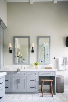 Steel gray vanity