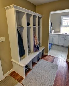 Mudroom built-in cabinet at the Sunbeam Family Farmhouse