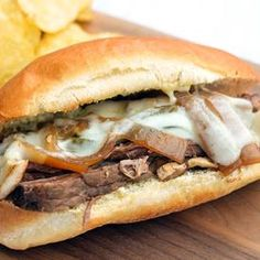 Slow Cookers Philly Cheese Steak Sandwiches