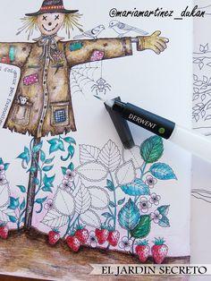 https://flic.kr/p/s5JDHJ | Jardin Secreto (Johanna Basford) + Pincel Derwent | Después de un rato de práctica en las páginas finales del libro, ya estoy lista para empezar a usar el pincel con depósito en los dibujos sin miedo a encharcarlos de agua