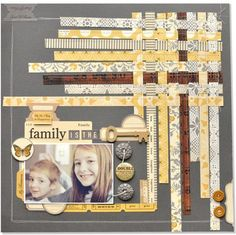 A Project by amyheller from our Scrapbooking Gallery originally submitted 11/21/11 at 06:45 AM  Love the yellow & gray woven strips