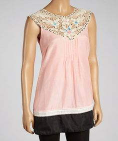 Looking to make a boho-chic style statement? Look no further than this pleasant top with wonders and wanderlust. The crochet neckline adds a fancy finish to this cool cotton top.