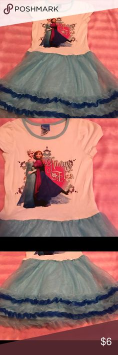 Disney Frozen Sister Tutu Dress I'm good condition has been worn by a big Frozen fan. She was sad when she grew out of it. Hopefully yours will love it as much. Twirls nicely I was one told by my daughter! Disney Dresses Casual