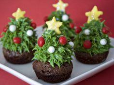 Strawberry Christmas Tree Brownie Bites | Tasty Kitchen: A Happy Recipe Community!