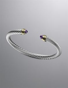 David Yurman Cable Classics Bracelet with Amethyst