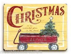 vintage style christmas signs - Google Search
