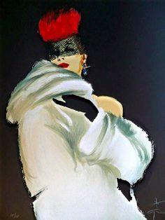 René Gruau Italian fashion illustrator: 'La Toque Rouge', fashion illustration of model in white fur coat, red fur hat. Fashion Illustration Vintage, Illustration Mode, Fashion Illustrations, Fashion Art, Vintage Fashion, Fashion Models, Lux Fashion, Rene Gruau, Jacques Fath