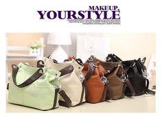 Dafengtrade - New 2015 Retro Vintage Women's Leather Handbag Tote Top-Handle Trendy Shoulder Bags Messenger Bag Crossbody bag Bolsas