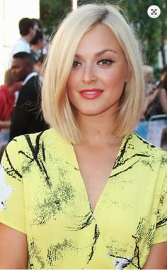 Fearne Cotton, mid length blonde bob, sleek …