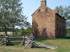 Stone House at the Manassas National Battlefield Park, Manassas, VA, where 2 battles of Bull Run were fought during the Civil War