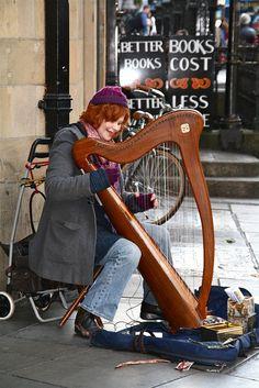 Musician in the Streets of Dublin by Sascha Bentz, via Flickr