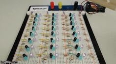 """Instructables Proximity-Sensing LEDs. Each """"module"""" consists of a visible LED, an IR LED, a phototransistor and 3 resistors."""
