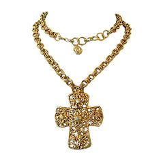 Christian Lacroix - CHRISTIAN LACROIX VINTAGE BAROQUE CROSS PENDANT... ❤ liked on Polyvore featuring jewelry, necklaces, cross necklace, crucifix jewelry, christian lacroix, pendant necklace and cross jewelry