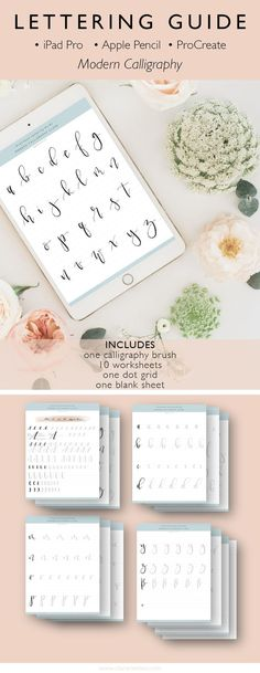 iPad Pro Lettering Guide for ProCreate • Modern Calligraphy