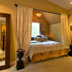 What a great way to use an alcove!   Bedroom Design Ideas, Pictures, Remodels and Decor