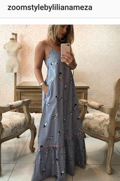 Maxi es Simple Dresses, Beautiful Dresses, Casual Dresses, Fashion Dresses, Night Outfits, Summer Outfits, Summer Dresses, Outfit Night, Jolie Lingerie
