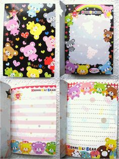 Q-LiA Kawaii Memo Pad Humming Bear