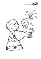 Св. Валентин – картинки за оцветяване | крокотак