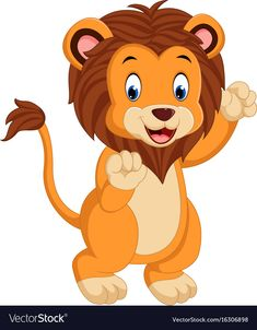 Cute cartoon lion vector image on VectorStock Kids Cartoon Characters, Cartoon Lion, Cute Cartoon, Bunny Drawing, Drawing For Kids, Cartoon Sketches, Animal Sketches, Lion Vector, Lion Clipart