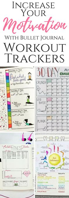 Stay motivated to accomplish your fitness goals with these Bullet Journal trackers!