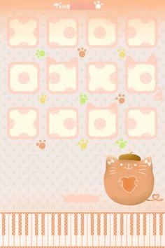Cute Cat iPhone 4 icon skin