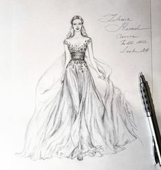 Wedding Dress Illustrations, Wedding Illustration, Illustration Mode, Fashion Design Sketchbook, Fashion Design Drawings, Fashion Sketches, Fashion Painting, Fashion Art, Dress Design Drawing