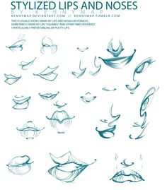 Lips and Noses by *kennymap on deviantART