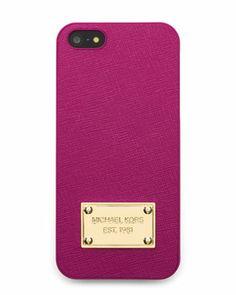 MICHAEL Michael Kors  Saffiano iPhone® 5 Cover. Comes in black also.  $38