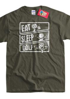 530b1869bb4 Eat Sleep Golf V3 Eat Sleep Golf Cartoon Golfing Gifts For Dad Screen  Printed T-Shirt Tee Shirt T Shirt Mens Ladies Womens Youth Kids